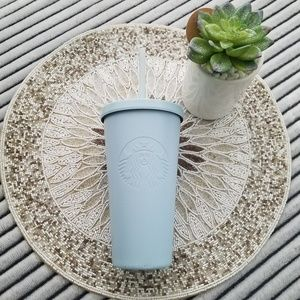 Starbucks Matte Powder Blue Stainless Tumbler